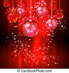 nytår, og, jul, ferier