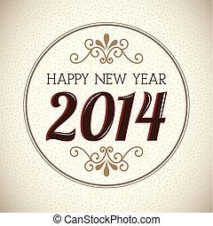 nytt år, 2014, lycklig