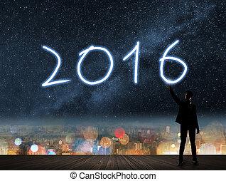 nytt år, av, 2016