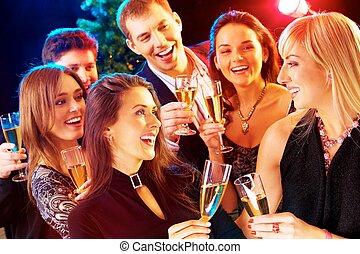nytt år, -, parti