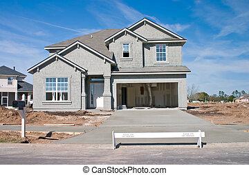 nytt hem, konstruktion