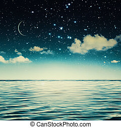 nyugalom, kivonat tervezés, tengeri, -e, kilátás