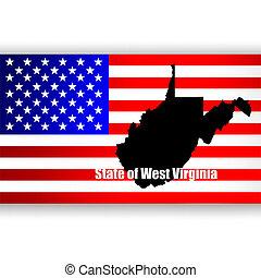 nyugat, állam, virginia