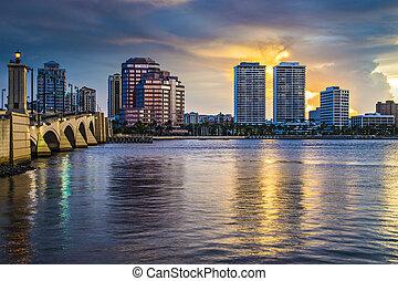 nyugat pálma tengerpart, florida