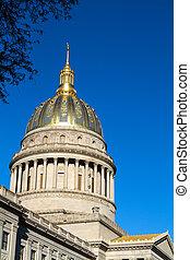 nyugat, statehouse, virginia, kupola