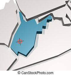 nyugat virginia térkép