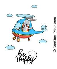 nyuszi, helicopter.