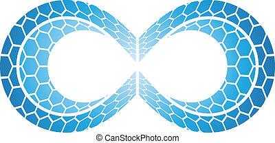 oändlighet, symbol, design