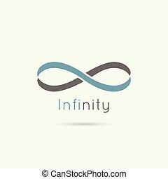 oändlighet, underteckna, från, den, färgad, stripes, av,...