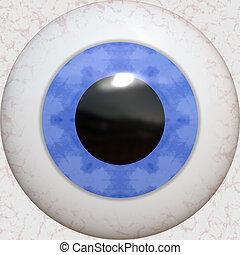 oční bulva, tkanivo