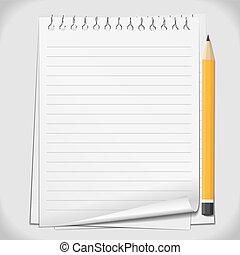 ołówek, papier