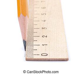 ołówek, prosta lina, rysunek