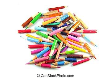 ołówki, krótki