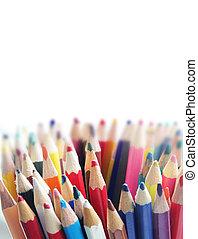 ołówki, różny, kolor