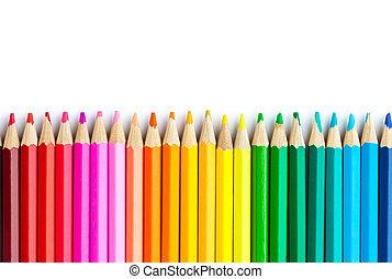 ołówki, wielobarwny