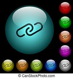 oświetlany, ikony, kolor, pikolak, szkło, paperclip