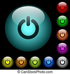 oświetlany, moc, ikony, kolor, pikolak, szkło, witka