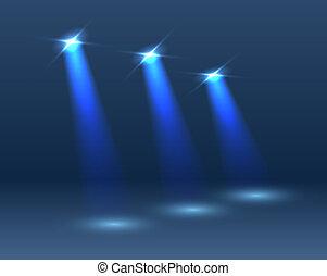 oświetlenie, scena