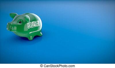 ożywienie, -, piggy bank, 3d
