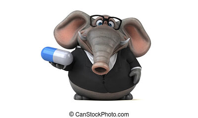 ożywienie, słoń, zabawa, 3d, -