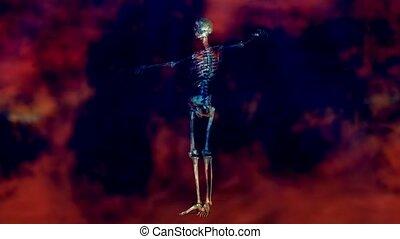 ożywienie, szkielet, ludzki
