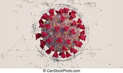 ożywienie, ultra, cyfrowy, 3840x2160., coronavirus, 3d, ...