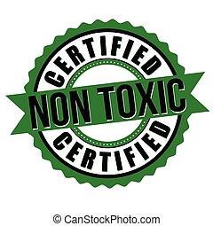 o, adesivo, certificato, non, etichetta, tossico