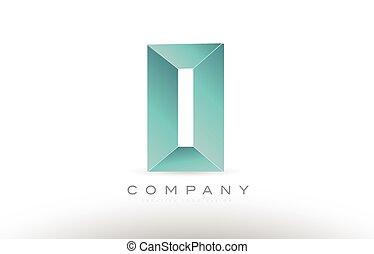 o alphabet letter green logo icon design