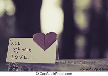 amor - o amor esta no ar