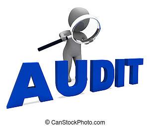 o, auditoría, validación, carácter, escrutinio, auditor, medios