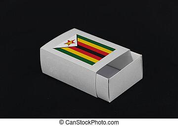o, bandiera carta, colorare, zimbabwe, bianco, products., fondo, scatola, mettere, nero, nazione, fiammifero, imballaggio