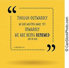 o, biblia, chrześcijanin, wznowienie, cytuje, wektor