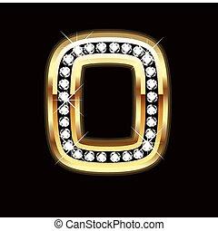 o bling alphabet letter