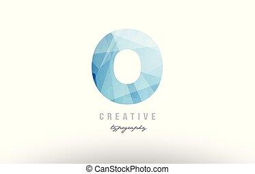 o blue polygonal alphabet letter logo icon design