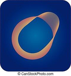 o., brief, abstrakt, logo