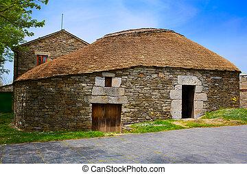 O Cebreiro by the way of Saint James in Galicia Palloza...