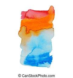 o, elementi, fondo, stampa, astratto, composizione, acquarellature, web, etichetta, vernice acquarellatura, colori, usato, paper., bagnato, album, macchia, mano, disegno, illustrazione
