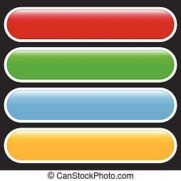 o, elements., colorito, serie, bottone, messages., forma astratta, etichetta, etichetta, fondo, rettangolare, bandiera, tuo