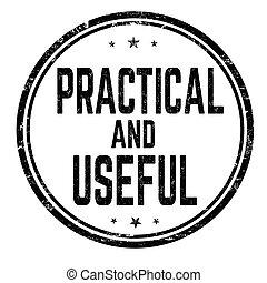 o, estampilla, señal, útil, práctico