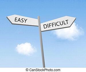 o, facile, difficile