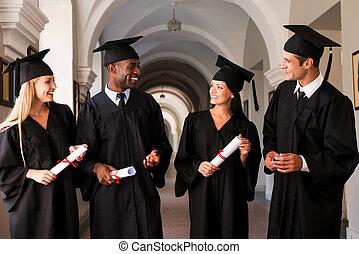 o, future., uniwersytet, pieszy, skala, absolwenci, cztery, mówiąc, jasny, kolegium, korytarz, suknie, wzdłuż
