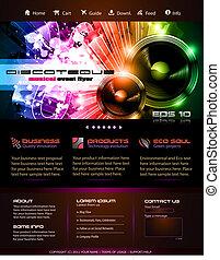 o, gráficos, webtemplate, blog