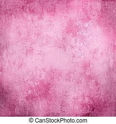 o, grunge, textura, plano de fondo, rosa