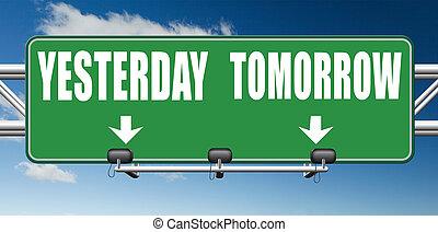 o, ieri, domani, futuro, passato