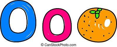 O is for orange - learning the alphabet - toddler art series