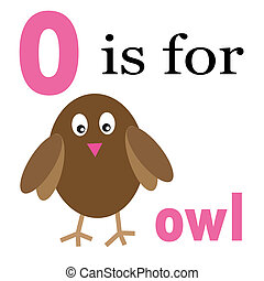 O is for Owl - O is for owl alphabet letter