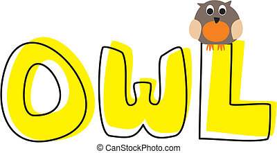 O is for owl - vector illustration