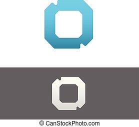 O Letter Alphabet Abstract vector text logo