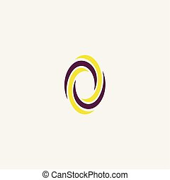 o letter icon purple yellow logo sign