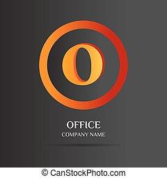 O Letter logo abstract design